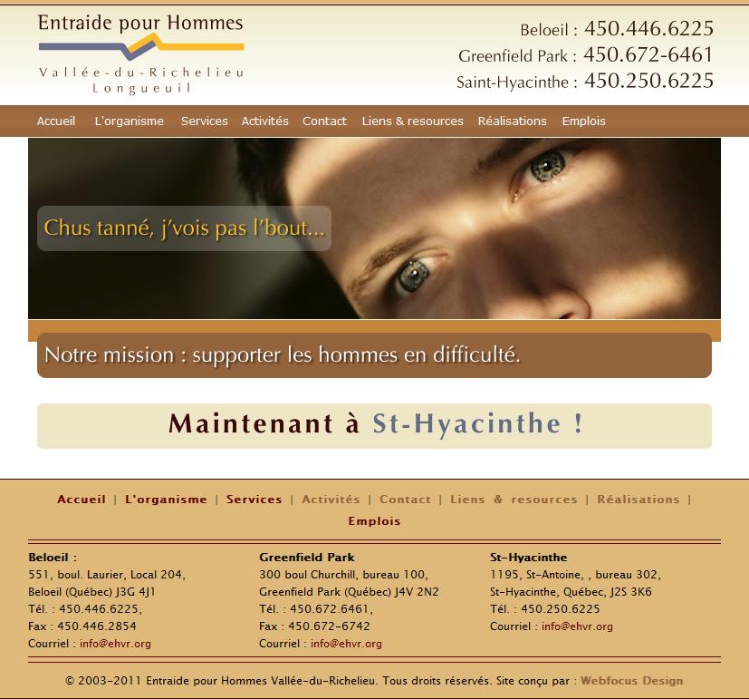 EHVR Web Site - Home page
