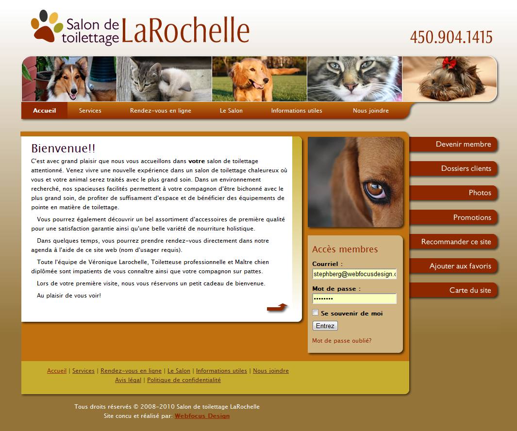 Toilettage LaRochelle Web Site - Home Page