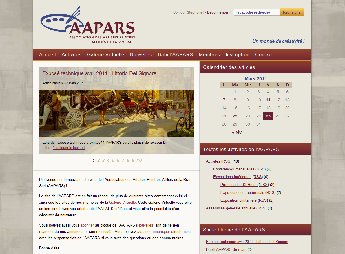 AAPARS Web Site - Home Page