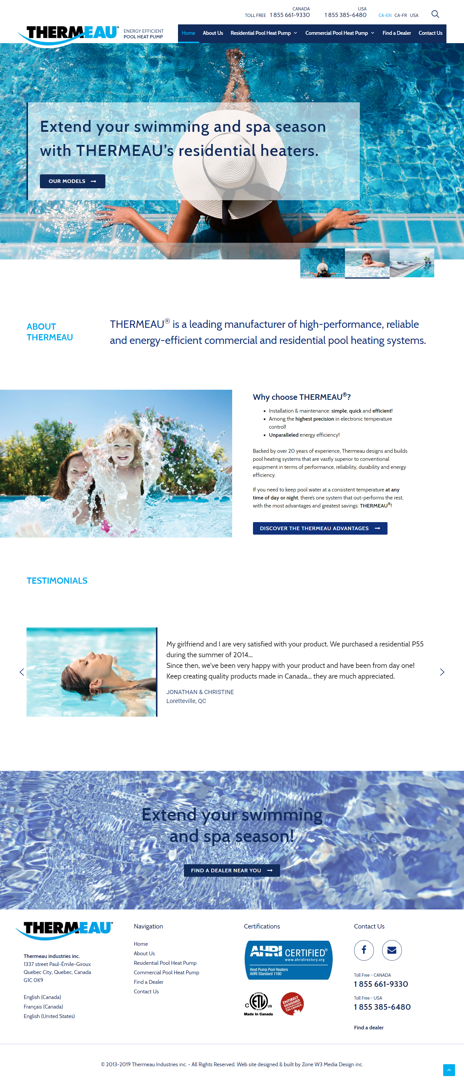 Thermeau - Web Site