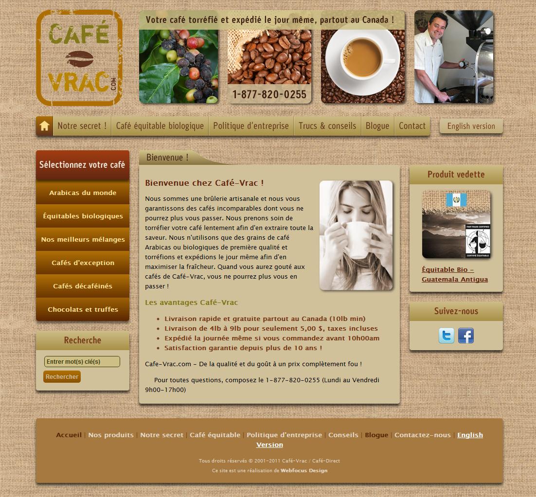 Site web Café-Vrac