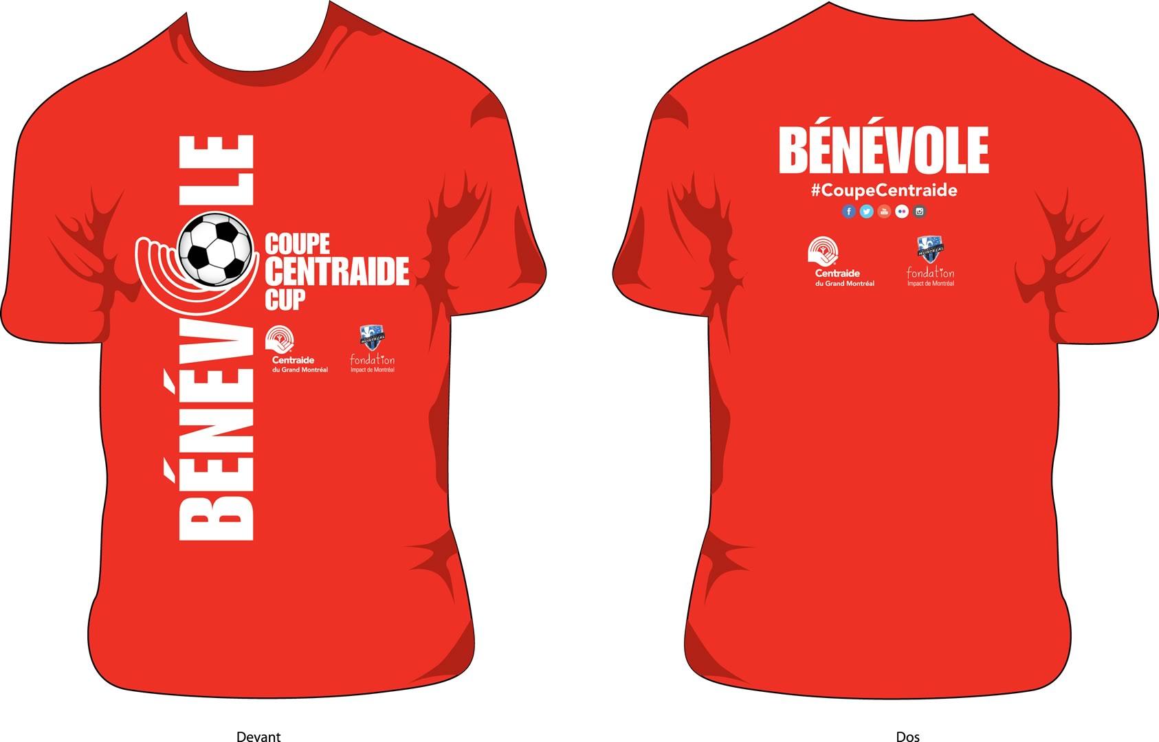 Centraide - t-shirt bénévoles pour tournoi soccer 2015