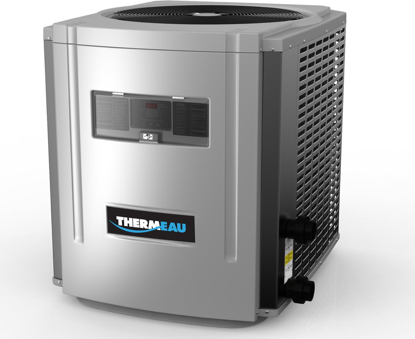 Thermeau - habillage thermo-pompe, clavier à membreane et plaque signalétique