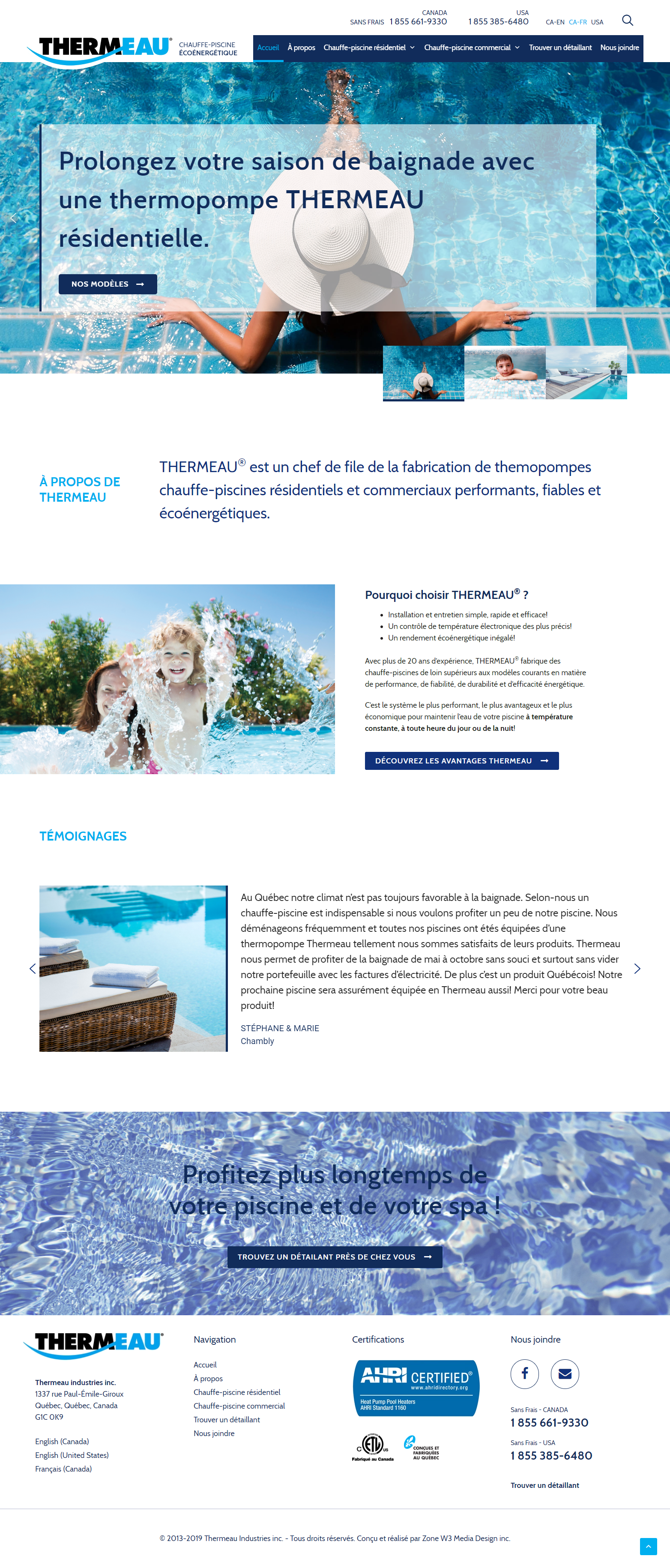 Thermeau - Site web